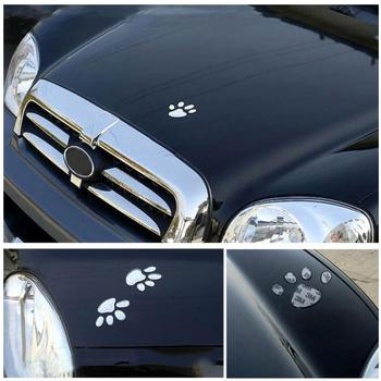 Cat Paw 3d Sticker For Car Creative Lovely Car Sticker Dog Cat Paws Pet Animal Footprints Decoration Car Body Sticker Car Decal image