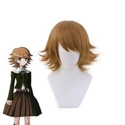 Anime Danganronpa Chihiro Fujisaki Short Wig Cosplay Costume Dangan Ronpa Heat Resistant Synthetic Hair Men Women Wigs
