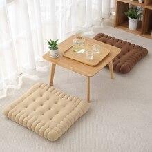 Cushion Biscuit-Shape Chair Decorative Soft Stool-Mat Pillow Sofa Car-Seat-Pad Cookie-Tatami