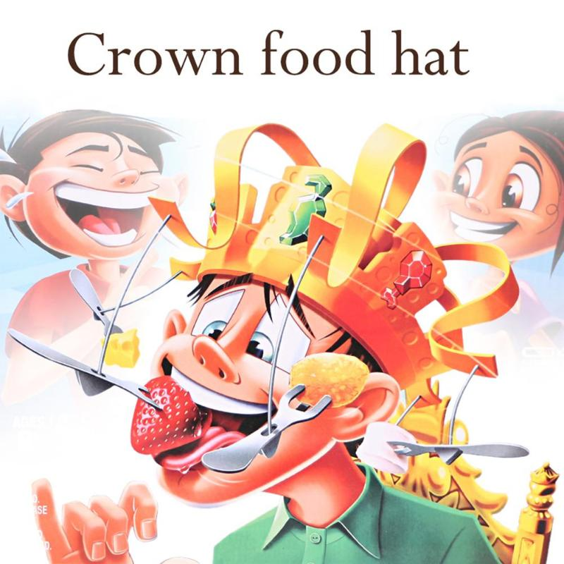 Creative Amusing Hat Improving Practical Ability Unique Spinning Crown Snacks Food Party Play Funny Gifts Necessary Fun Toys