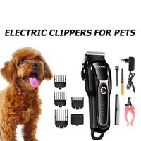 Pet Dog Hair Trimmer Grooming Clippers Cat Cutter Shaver Electric Scissor EU Equipped With a Powerful Engine And Long Life