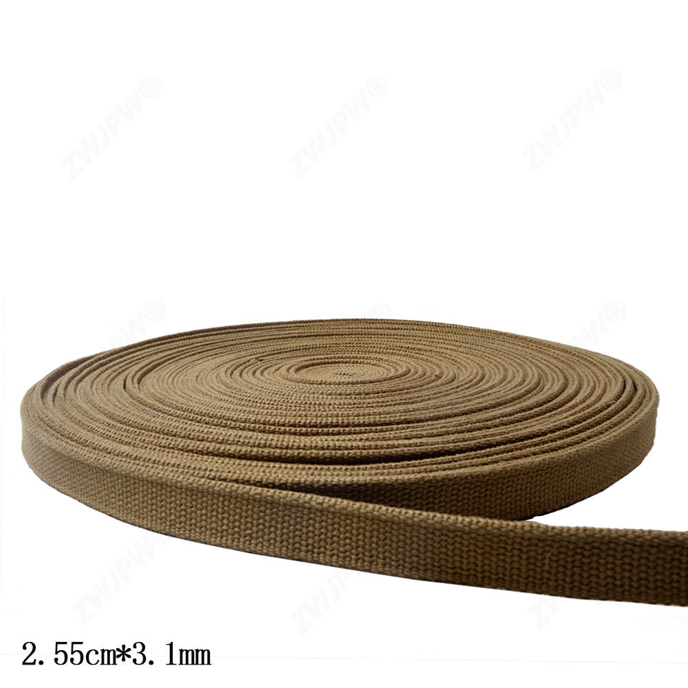 WW2 US ARMY 2.55cm *3.1cm Width Khaki And Green  Webbing 1m Length