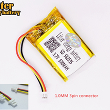 Модель 582535 SP5 3,7 V 600mAh аккумуляторная батарея для тахографа papago F300 F200 F210 QStar A5 DVR 602535 parkcity 710