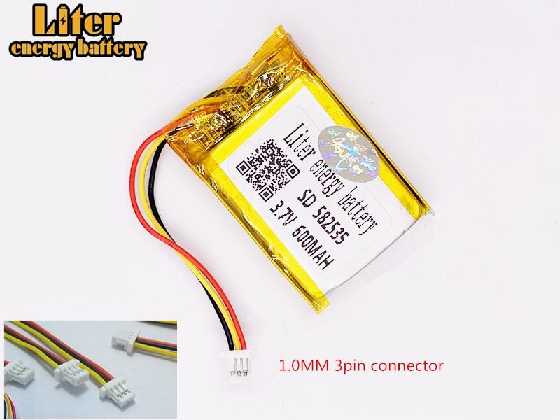 MODEL 582535 SP5 3.7V 600mAh Rechargeable Battery For Tachograph Papago F300 F200 F210 QStar A5 DVR 602535 Parkcity 710