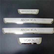 עבור אופל ווקסהול Mokka X 2012 2013 2018 2019 2020 דלת אדן שפשוף צלחת לקצץ סף דוושת מגיני רכב סטיילינג אבזרים