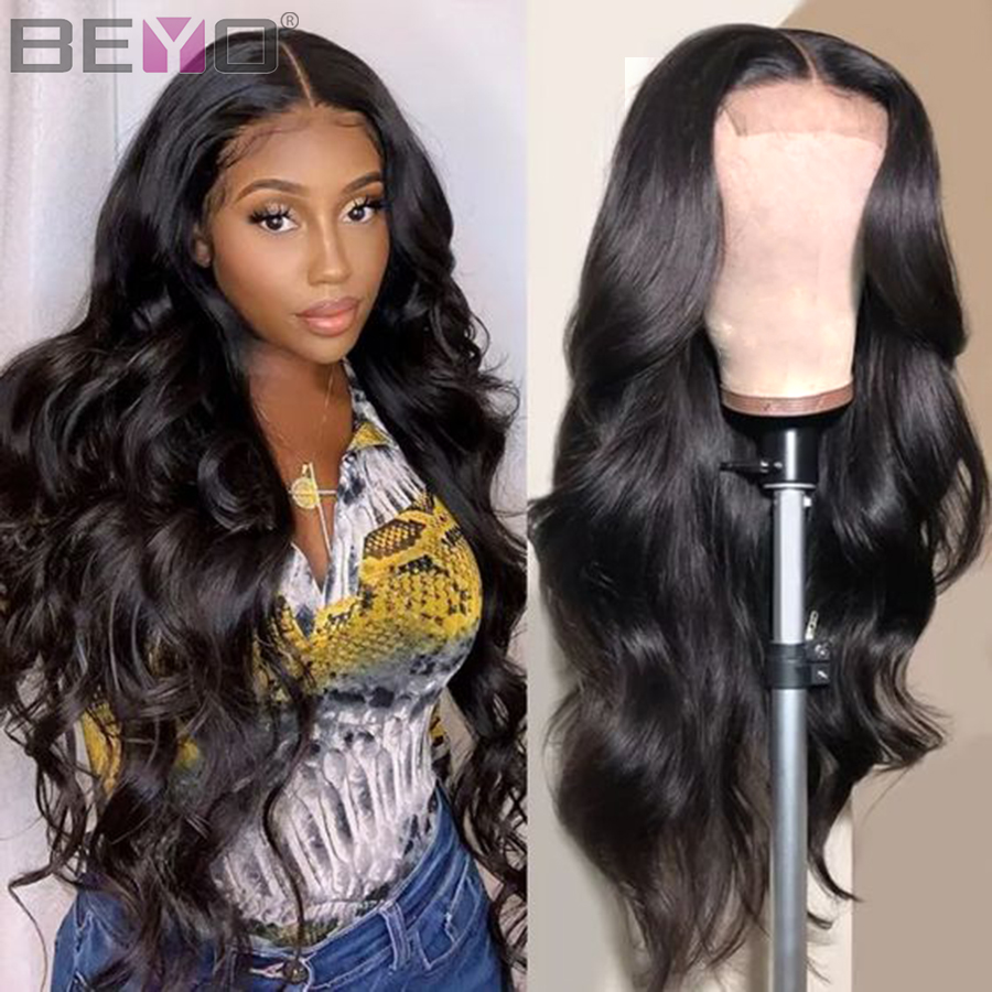 360 Lace Frontal <font><b>Wig</b></font> Pre Plucked With Baby <font><b>Hair</b></font> Brazilian Body Wave Lace Front Human <font><b>Hair</b></font> <font><b>Wigs</b></font> For Women Beyo Remy Lace <font><b>Wig</b></font> <font><b>10A</b></font> image