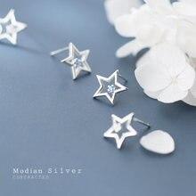 Modian Классический стерлингового серебра 925 простой звезда