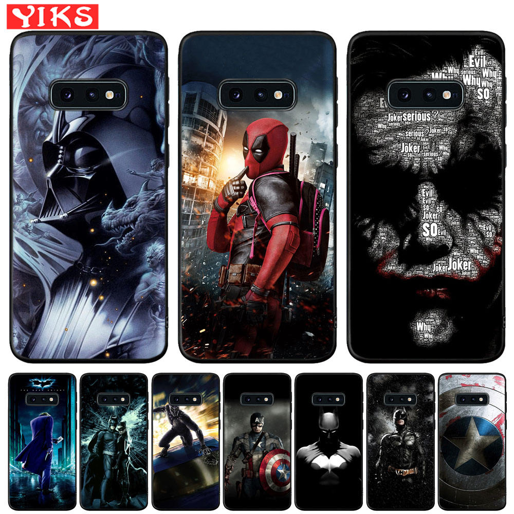 <font><b>Phone</b></font> <font><b>Case</b></font> For Samsung S8 S9 S10 Plus S10e S10 5G <font><b>Marvel</b></font> Deadpool The Joker Cover For Samsung Note 10 Plus 8 9 S7 Edge Coque image