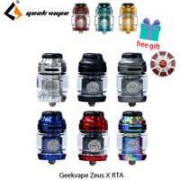 Vape réservoir Geekvape Zeus X RTA 4.5ml capacité du réservoir avec 810 Delrin pointe d'égouttement cigarette électronique atomiseur vs zeus double/AMMIT MTL
