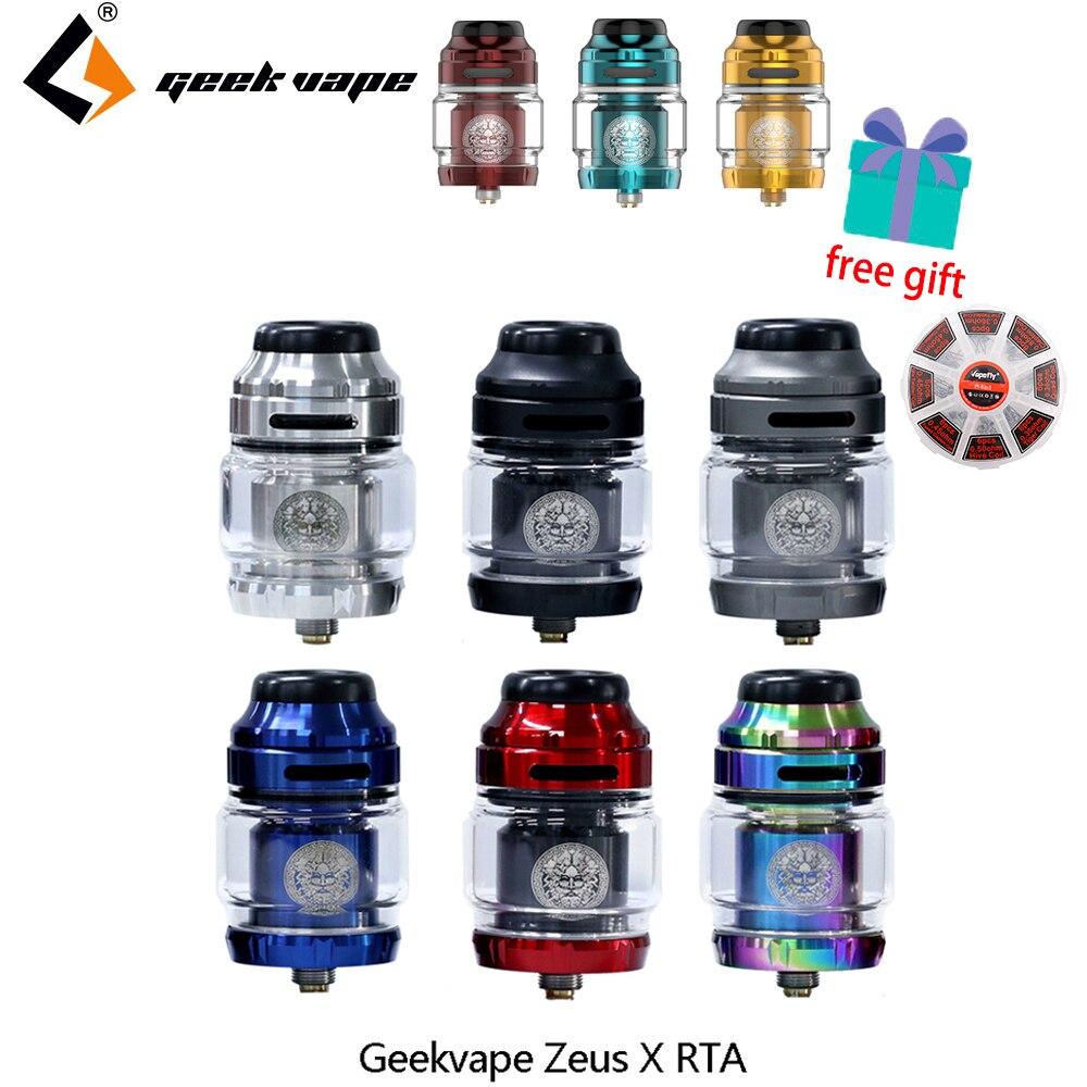 Zbiornik Do E-papierosa Geekvape Zeus X RTA Pojemność Zbiornika 4.5ml Z 810 Końcówką Kroplówki Delrin Atomizer Do Elektronicznego Papierosa Vs Zeus Dual/AMMIT MTL