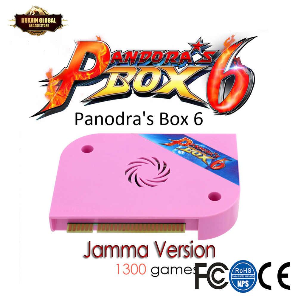 1300 In 1 판도라 박스 6 Jamma Board 아케이드 머신 용 HDMI VGA cga는 추가 3000 게임을 추가 할 수 있습니다. FBA MAME PS1 게임 3D 게임 지원