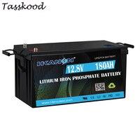Hiçbir vergileri şarj edilebilir derin döngüsü Lifepo4 12v 180Ah lityum iyon batarya paketleri kamp araba çadırı