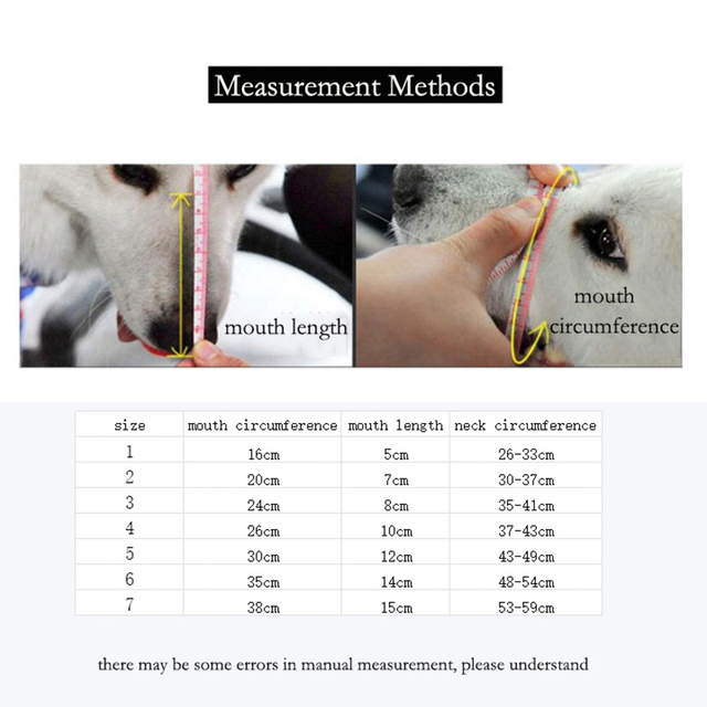 @HE Adjusting Pet Dog Muzzle New 1Pcs 7 Sizes Plastic Strong  Dogs Muzzle Basket Design Anti-biting Dog Mouth Mask For Dogs Cats 5