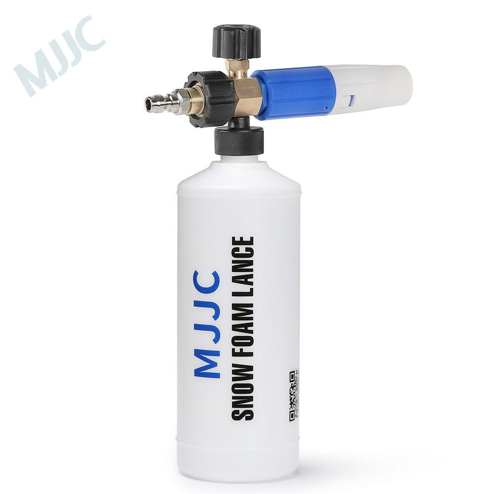 Mjjc sonw arma de espuma 1/4 rápido conectar lança de espuma com um quarto conexão rápida montagem canhão de espuma conector rápido