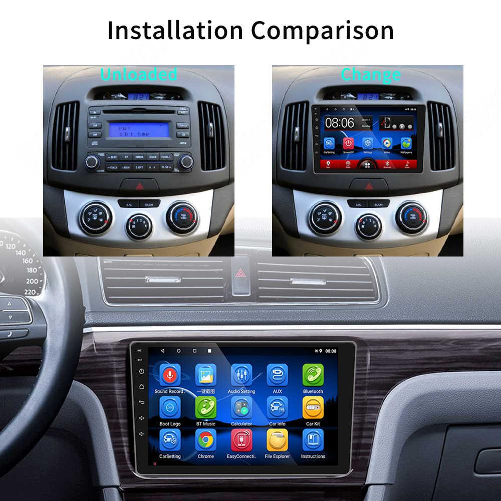 9 cal Android 9.1 samochodowe multimedia radiowe dla Toyota Corolla 2008 2009 2010 2011 2012 2013 2din gps wi-fi bluetooth 2 Din
