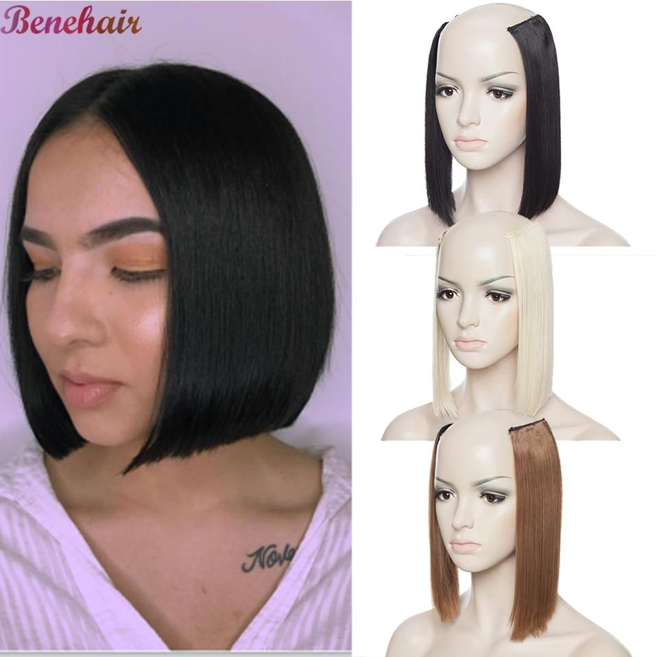 Женские прямые синтетические накладные волосы на заколках Benehair, 10 дюймов