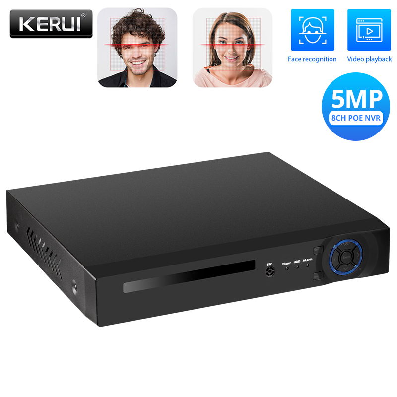 KERUI H.265 8CH 5MP NVR POE 8 Channel Surveillance Video Recorder Security Camera System CCTV Onvif Face Detection/Record|Surveillance Video Recorder| |  - title=