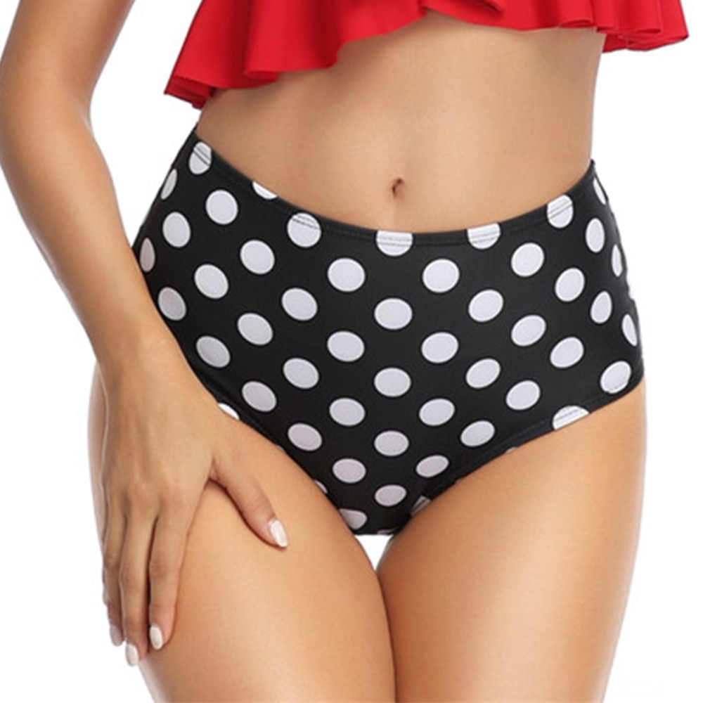 גבוה מותניים נשים ביקיני Tankini בגד ים תחתונים לשחות מכנסיים קצרים Mujer אלסטי כיסוי בגדי ים מכנסיים S-XL