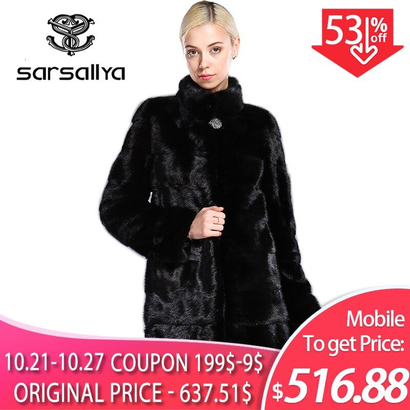 Réel manteau de fourrure vison femmes hiver naturel fourrure vison manteaux et vestes femme longue chaud Vintage femmes vêtements 2019 grande taille 6XL 7XL