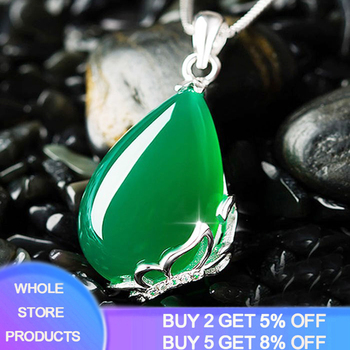 925 Sterling Silver Natural Emerald Gemstone Cocktaill Pendant Necklace Women Jewelry Wedding Anniversary Banquet Best Gifts tbj natural zambia emerald gemstone pendant in 925 sterling silver tree leaf pendant for women girl as anniversary birthday gift