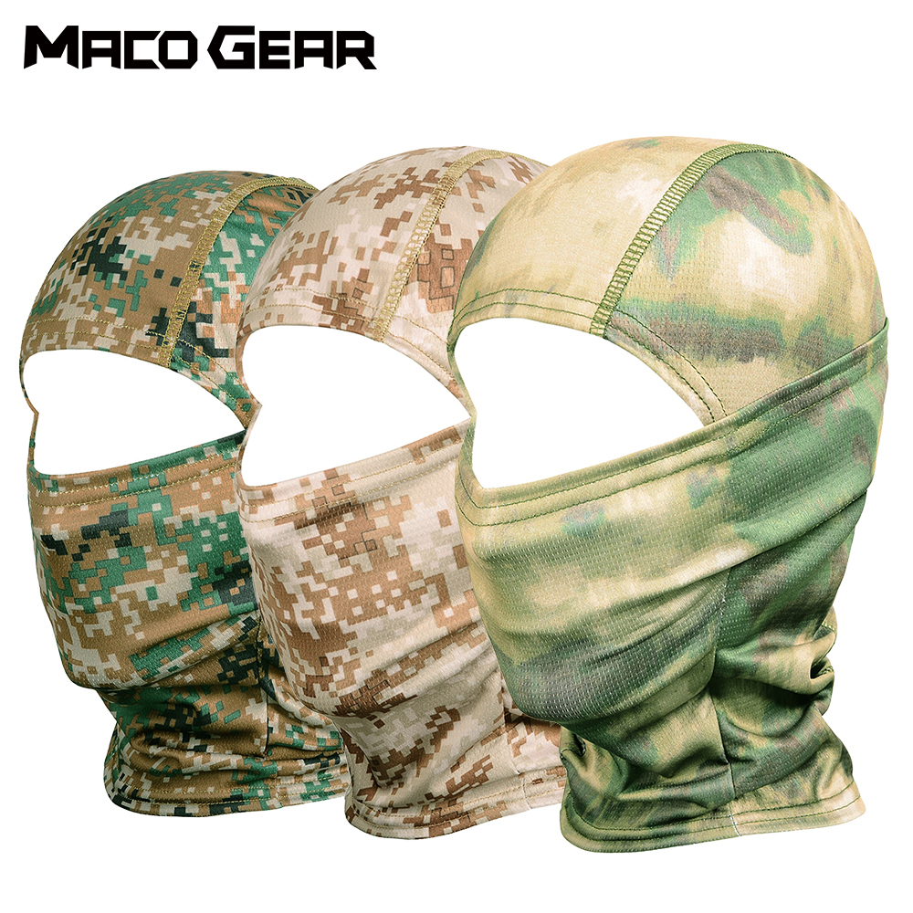 Camouflage Tactical Outdoor Balaclava Full Face Mask Bicycle Hunting Hiking Cycling Army Sport Bike Military Liner Scarf Cap-in Scarves from Sports & Entertainment