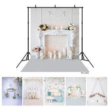 Tło do zdjęć biały salon kwiaty wazon świece walentynki tło winylowe dla dzieci Baby Lover fotografia Photophone