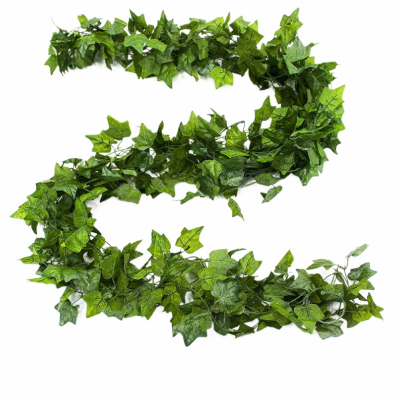 Artificial green silk artificial Hanging ivy leaf plants vines leaves 1Pcs diy For Home Bathroom Decoration Garden Party Deco