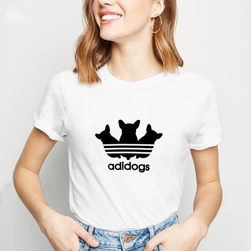 Adidogs Strass Damen T-Shirt