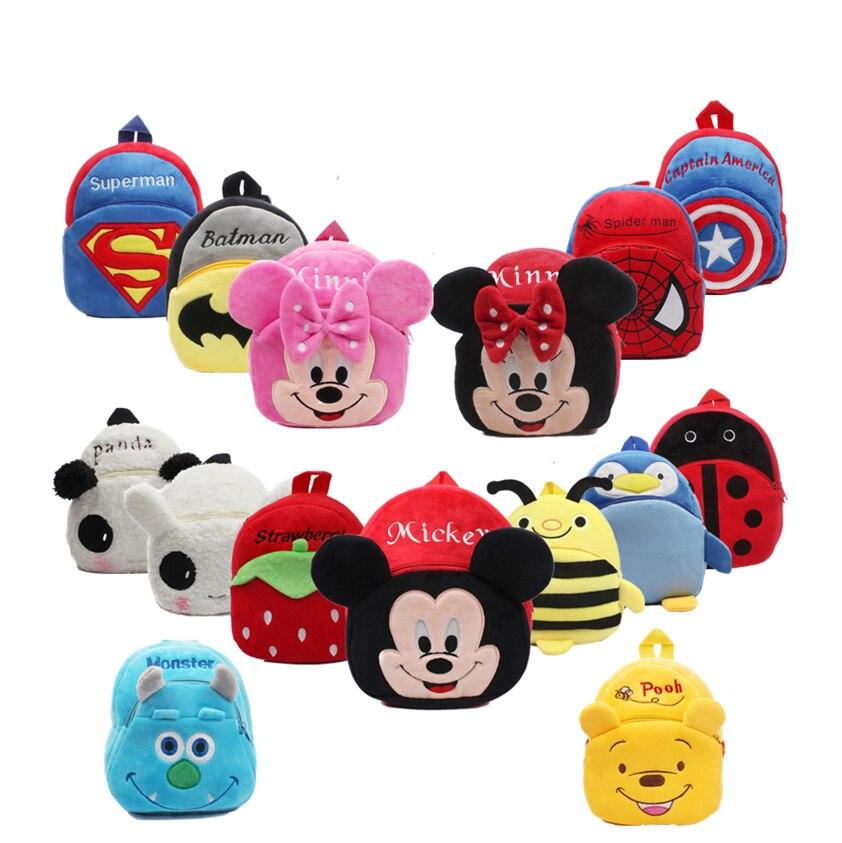Cute Baby School Bag Cartoon Mini Plush Backpack For Kindergarten Kids Boys Girls Student  Kids Backpacks Mochila Escolar