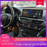 Android 8 Car GPS navigation For Honda Accord tenth 2018 2019 multimedia car DVD headunit radio tape recorder stereo DSP