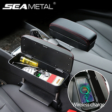 Car-Armrest-Box Seat Universal with Wireless Charge-Cars Storage-Box Car-Organizer Elbow-Support