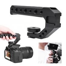 Ulanzi uurig r005 punho da câmera de aperto de mão universal com sapata fria montagem 1/4 holes & & 3/8 holes holes buracos punho da câmera de aperto de mão handlegrip