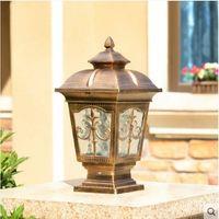 European garden lamp wall lamp post head lamp outdoor waterproof garden villa lamp exterior wall door post lamp