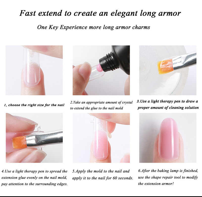 Ensemble de manucure étendre le Kit de vernis à ongles constructeur d'ongles Extension constructeur Gel ongle UV lampe LED acrylique cristal gelée ensemble d'ongles