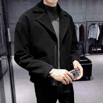 2020 Korean Style Coats Overcoats M-2XL Fashion Winter Dress High Quality Abrigo Largo Hombre Mens Pea Coat