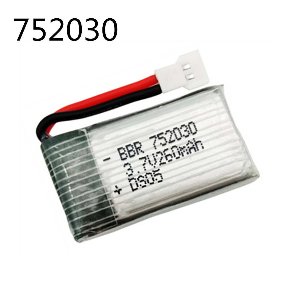 Original Battery 3.7V 260mAh Lipo Battery For H8 RC Quadcopter Drone Part H8 Mini Drone Parts 3.7v Battery 752030