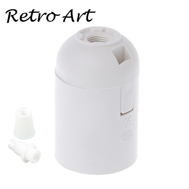 10pcs/lot  E27 Plastic Bulb Holder 4A 250V Screw Pendant Lamp Socket Lamp Base