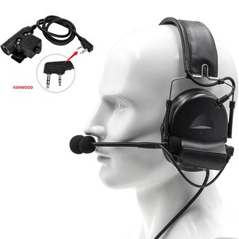 Tactical headset COMTAC II active noise reduction pickup electronic shooting  earmuffs interphone headset + tactical PTT U94 PTT tactical comtac ii anti noise sound amplification electronic noise reduction shooting headphones and tactical ptt u94 ptt de