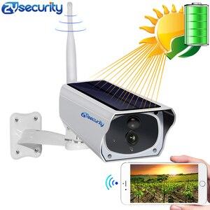 Image 1 - Cámara IP de seguridad con visión nocturna para exteriores cámara de seguridad IR con WiFi Solar, HD 1080P, PIR, alarma, batería CCTV, con tarjeta SD