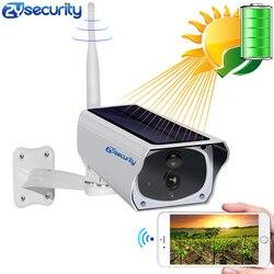 HD 1080P Solar WiFi IR Bulllet Beveiliging IP Camera Outdoor Sony IR Nachtzicht Audio PIR Alarm CCTV Batterij camera met Sd-kaart
