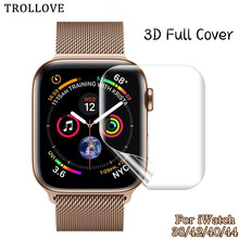 Защитная пленка для экрана iWatch 4 5 Гидрогелевая пленка для Apple Watch Series 1 2 3 HD полноразмерная пленка 40 мм 44 мм 38 мм 42 мм(не стекло