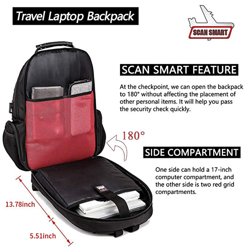 15.6 Anti-Theft Laptop Backpack  - Durable 45L S Strap Design 2