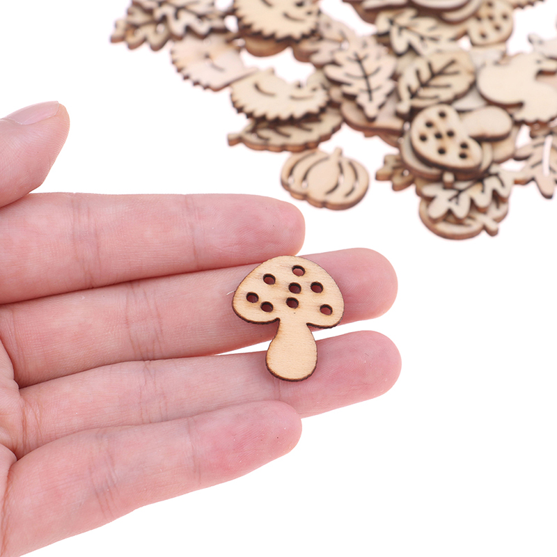 50 Miniature Laser Cut Wood Letters Scrapbooking 0.75/""