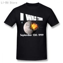 Мужская футболка я была там в 1999 хип хоп белом гейке