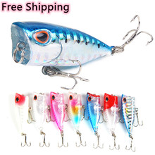 1Pcs 4cm/3g Minnow Fishing Lure Popper Hard Bait Crankbait Isca Wobbler Tackle Top Water Fishing Goods Poper Floating Pike Lures
