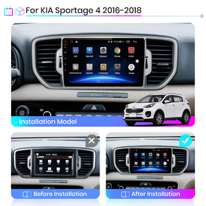 Image 2 - JunsunV1 2G + 32G Android 10.0 DSP araba radyo multimedya oynatıcı GPS Navigator KIA Sportage 4 KX5 2016 2017 2018 ses 2Din dvd