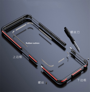 Image 2 - For ASUS ROG 2 ROG2 Case Metal Frame Double Color Aluminum Bumper Protect Cover for ASUS ROG Phone II Case