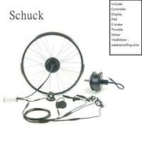 Schuck E Bike Kit Hinten kassette Rad Motor 36V350W Electric Bike Conversion Kit Mit Display KT LED900S-in Conversion Kit aus Sport und Unterhaltung bei