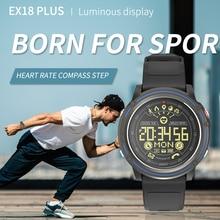 Смарт часы ex18 plus bluetooth ip68 водостойкие с Шагомером