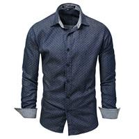Осенняя мужская одежда, ковбойская рубашка с длинными рукавами, круглая рубашка 120